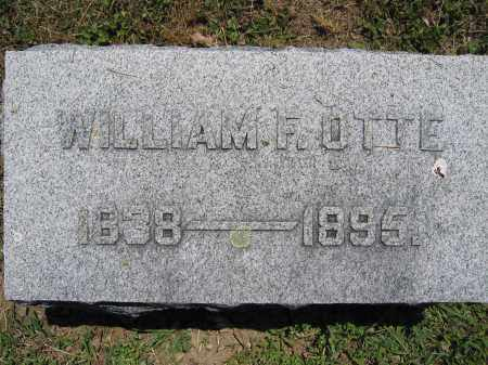 OTTE, WILLIAM F. - Union County, Ohio | WILLIAM F. OTTE - Ohio Gravestone Photos