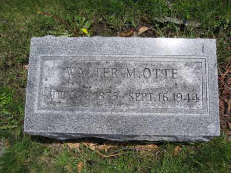 OTTE, WALTER M. - Union County, Ohio | WALTER M. OTTE - Ohio Gravestone Photos