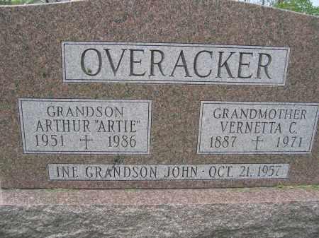 OVERACKER, VERNETTA C. - Union County, Ohio | VERNETTA C. OVERACKER - Ohio Gravestone Photos