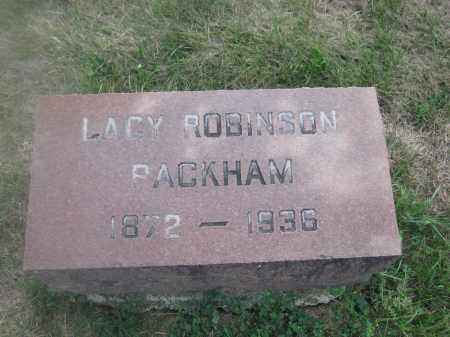 PACKHAM, LACY ROBINSON - Union County, Ohio | LACY ROBINSON PACKHAM - Ohio Gravestone Photos