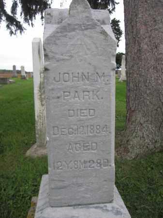 PARK, JOHN M. - Union County, Ohio | JOHN M. PARK - Ohio Gravestone Photos