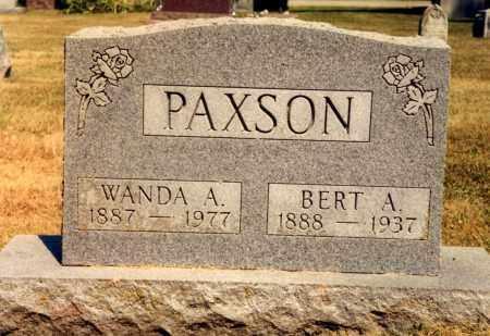PAXSON, WANDA A. - Union County, Ohio | WANDA A. PAXSON - Ohio Gravestone Photos