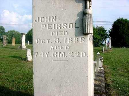 PEIRSOL, JOHN - Union County, Ohio | JOHN PEIRSOL - Ohio Gravestone Photos