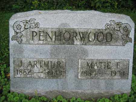 PENHORWOOD, J. ARTHUR - Union County, Ohio | J. ARTHUR PENHORWOOD - Ohio Gravestone Photos