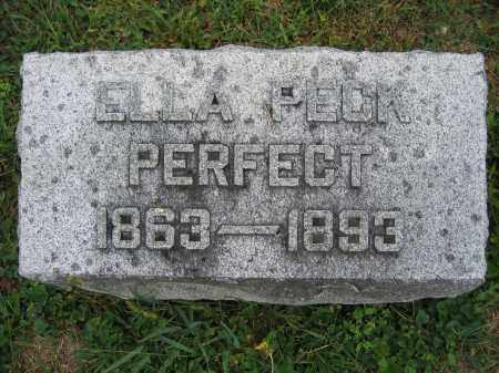 PERFECT, ELLA PECK - Union County, Ohio | ELLA PECK PERFECT - Ohio Gravestone Photos