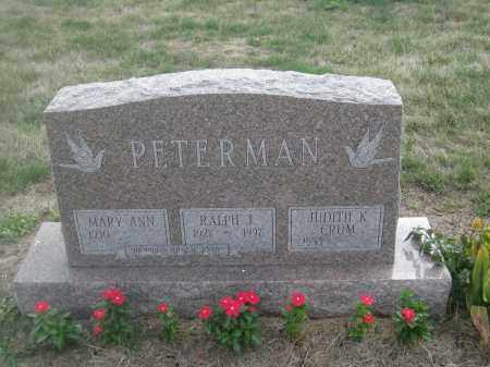 PETERMAN, MARY ANN - Union County, Ohio | MARY ANN PETERMAN - Ohio Gravestone Photos