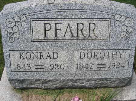 PFARR, KONRAD - Union County, Ohio | KONRAD PFARR - Ohio Gravestone Photos