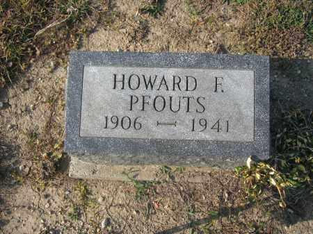 PFOUTS, HOWARD F. - Union County, Ohio | HOWARD F. PFOUTS - Ohio Gravestone Photos