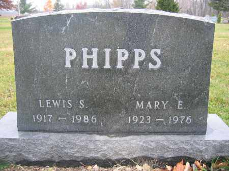 PHIPPS, MARY E. - Union County, Ohio | MARY E. PHIPPS - Ohio Gravestone Photos