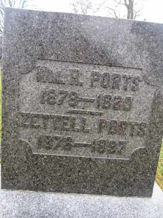 PORTS, WILLIAM H. - Union County, Ohio   WILLIAM H. PORTS - Ohio Gravestone Photos