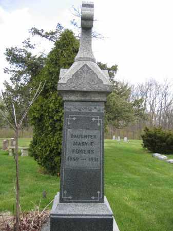 POWERS, MARY E. - Union County, Ohio | MARY E. POWERS - Ohio Gravestone Photos
