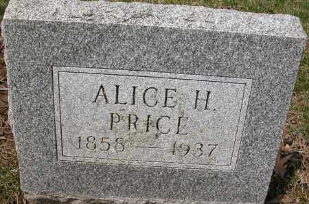 PRICE, ALICE H, - Union County, Ohio | ALICE H, PRICE - Ohio Gravestone Photos