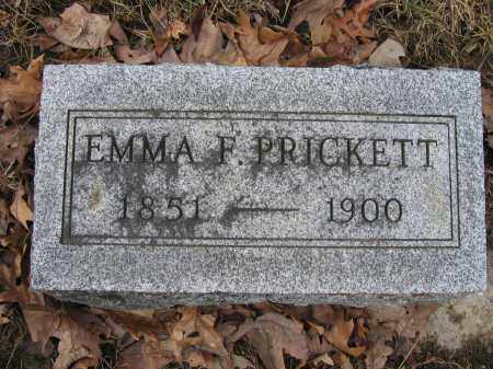 PRICKETT, EMMA F. - Union County, Ohio | EMMA F. PRICKETT - Ohio Gravestone Photos