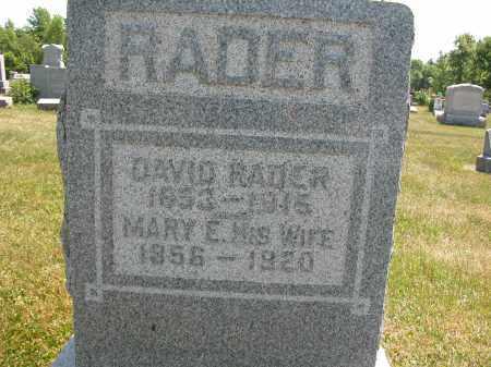 RADER, DAVID - Union County, Ohio | DAVID RADER - Ohio Gravestone Photos