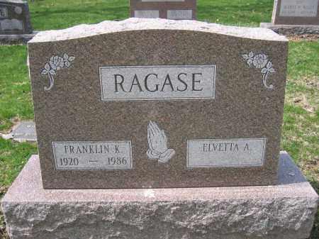RAGASE, FRANKLIN K. - Union County, Ohio | FRANKLIN K. RAGASE - Ohio Gravestone Photos