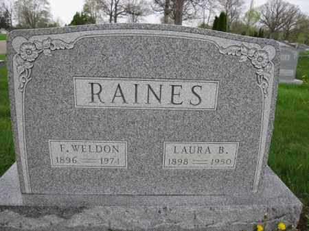 RAINES, LAURA B. - Union County, Ohio | LAURA B. RAINES - Ohio Gravestone Photos