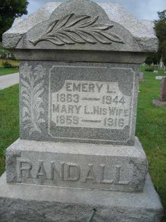RANDALL, EMERY L. - Union County, Ohio | EMERY L. RANDALL - Ohio Gravestone Photos