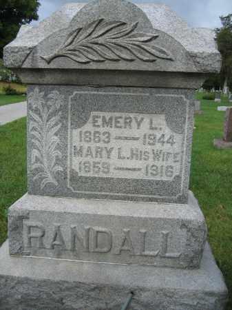 RANDALL, MARY L. - Union County, Ohio | MARY L. RANDALL - Ohio Gravestone Photos