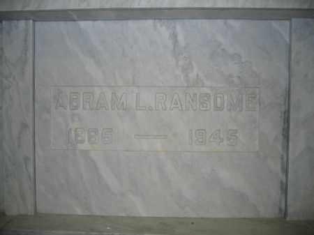 RANSOME, ABRAM L. - Union County, Ohio | ABRAM L. RANSOME - Ohio Gravestone Photos