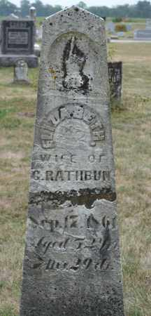RATHBUN, ELIZABETH - Union County, Ohio | ELIZABETH RATHBUN - Ohio Gravestone Photos