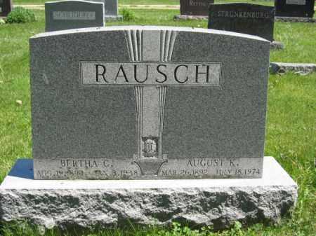 RAUSCH, AUGUST K. - Union County, Ohio   AUGUST K. RAUSCH - Ohio Gravestone Photos