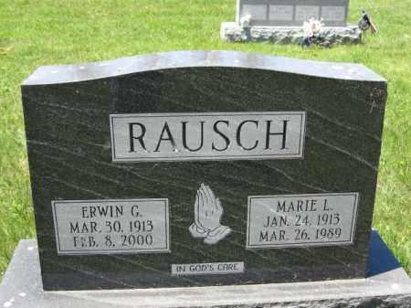 RAUSCH, ERWIN G. - Union County, Ohio | ERWIN G. RAUSCH - Ohio Gravestone Photos