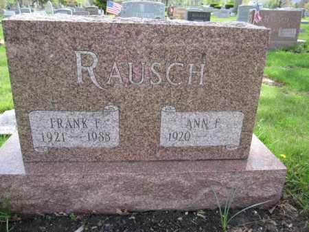 RAUSCH, FRANK F. - Union County, Ohio | FRANK F. RAUSCH - Ohio Gravestone Photos