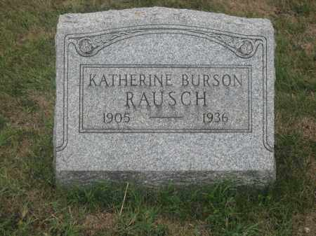 RAUSCH, KATHERINE BURSON - Union County, Ohio   KATHERINE BURSON RAUSCH - Ohio Gravestone Photos
