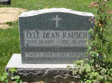 RAUSCH, LYLE DEAN - Union County, Ohio   LYLE DEAN RAUSCH - Ohio Gravestone Photos