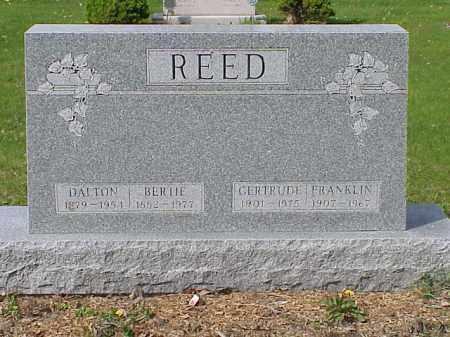 REED, BERTIE - Union County, Ohio | BERTIE REED - Ohio Gravestone Photos