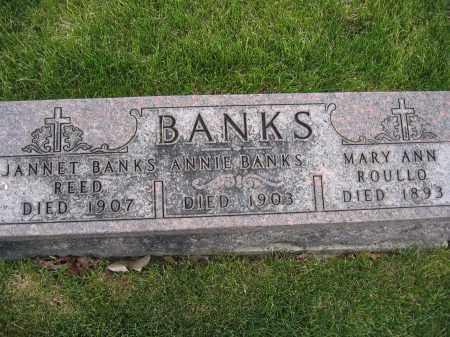 BANKS, ANNIE - Union County, Ohio | ANNIE BANKS - Ohio Gravestone Photos