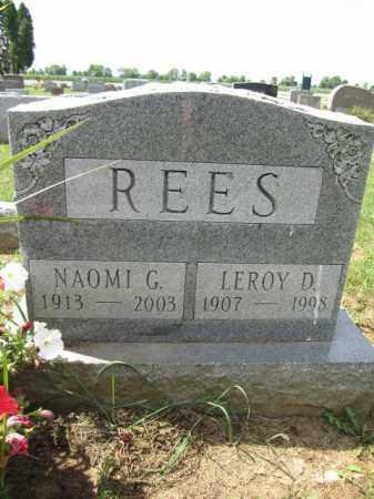REES, NAOMI G. - Union County, Ohio | NAOMI G. REES - Ohio Gravestone Photos