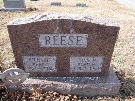 REESE, JOAN M. BENTON - Union County, Ohio | JOAN M. BENTON REESE - Ohio Gravestone Photos