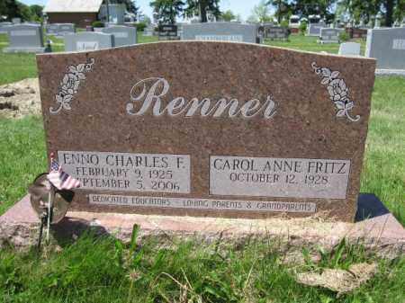 RENNER, ENNO CHARLES F. - Union County, Ohio   ENNO CHARLES F. RENNER - Ohio Gravestone Photos