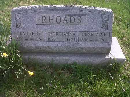 RHOADS, GENEIVEVE - Union County, Ohio   GENEIVEVE RHOADS - Ohio Gravestone Photos