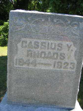 RHOADS, CASSIUS Y. - Union County, Ohio | CASSIUS Y. RHOADS - Ohio Gravestone Photos