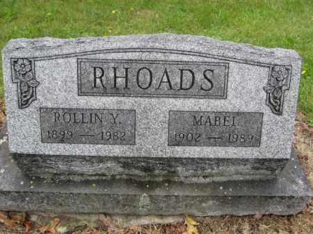 RHOADS, MABEL - Union County, Ohio   MABEL RHOADS - Ohio Gravestone Photos