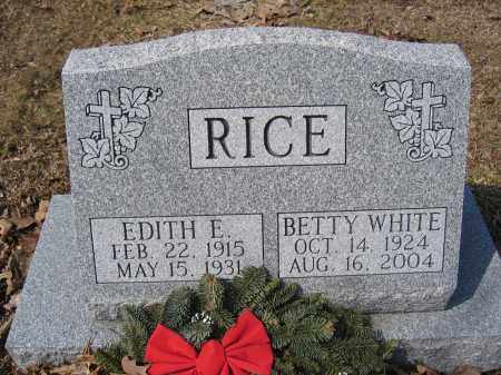 RICE, BETTY WHITE - Union County, Ohio | BETTY WHITE RICE - Ohio Gravestone Photos