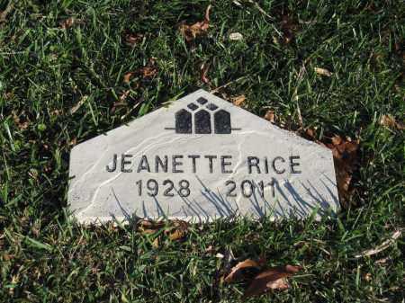 RICE, JEANETTE - Union County, Ohio | JEANETTE RICE - Ohio Gravestone Photos
