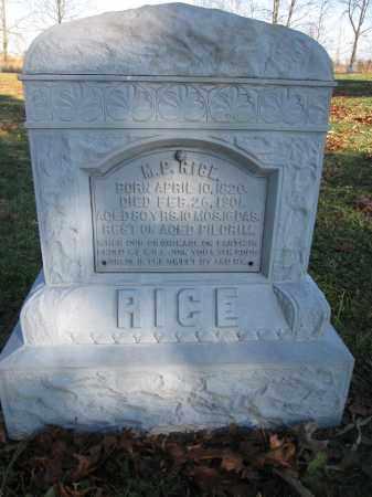 RICE, M.P. - Union County, Ohio | M.P. RICE - Ohio Gravestone Photos