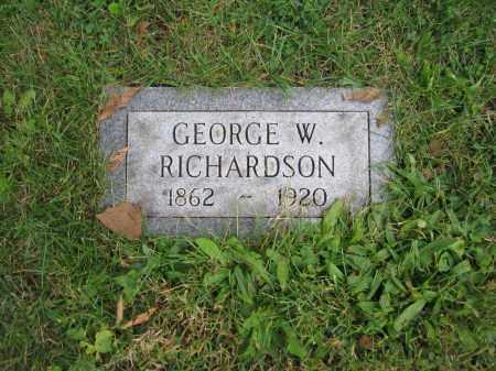 RICHARDSON, GEORGE W. - Union County, Ohio | GEORGE W. RICHARDSON - Ohio Gravestone Photos