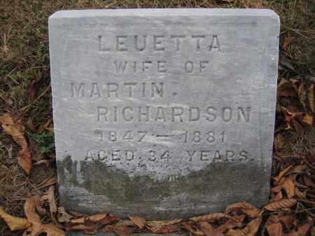 RICHARDSON, LEUETTA - Union County, Ohio | LEUETTA RICHARDSON - Ohio Gravestone Photos