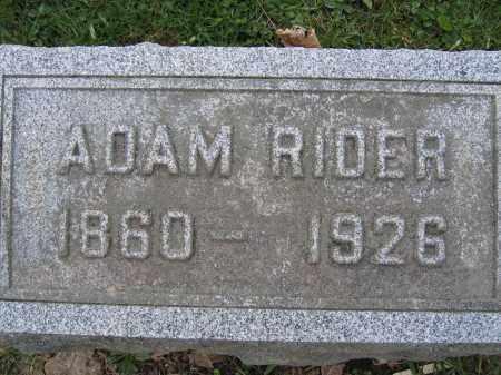 RIDER, ADAM - Union County, Ohio | ADAM RIDER - Ohio Gravestone Photos