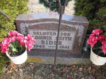 RIDER, LONNIE KEITH - Union County, Ohio | LONNIE KEITH RIDER - Ohio Gravestone Photos