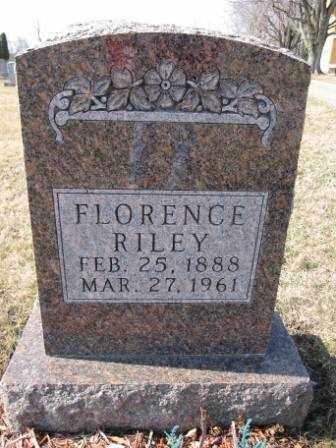 RILEY, FLORENCE - Union County, Ohio | FLORENCE RILEY - Ohio Gravestone Photos