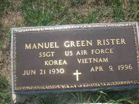 RISTER, MANUEL GREEN - Union County, Ohio | MANUEL GREEN RISTER - Ohio Gravestone Photos