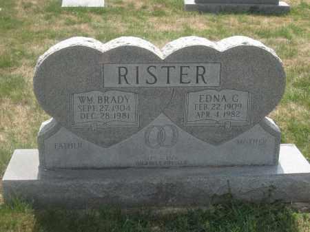 RISTER, WILLIAM BRADY - Union County, Ohio | WILLIAM BRADY RISTER - Ohio Gravestone Photos