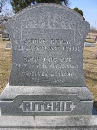 RITCHIE, SARAH J. - Union County, Ohio | SARAH J. RITCHIE - Ohio Gravestone Photos