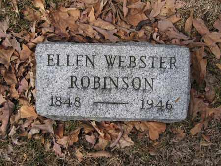 ROBINSON, ELLEN WEBSTER - Union County, Ohio | ELLEN WEBSTER ROBINSON - Ohio Gravestone Photos