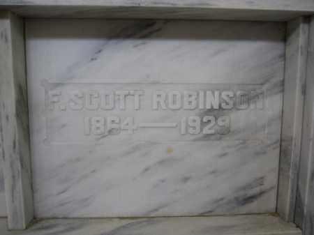 ROBINSON, F. SCOTT - Union County, Ohio | F. SCOTT ROBINSON - Ohio Gravestone Photos